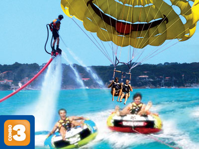 Combo 3 : Jetski 30' + Parachute Biplace + Bouées 2pers.